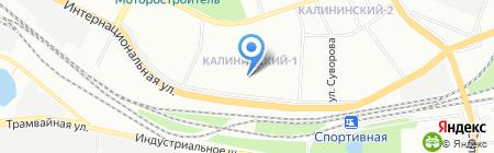 Средняя общеобразовательная школа №55 на карте Уфы