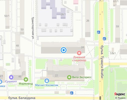 Управляющая компания «ЖЭУ-66» на карте Уфы