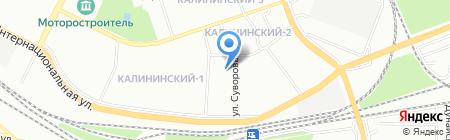 Детский сад №70 на карте Уфы