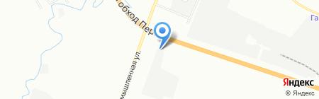 Глория-мебель на карте Перми