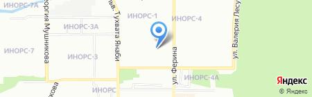 Средняя общеобразовательная школа №51 на карте Уфы