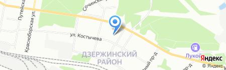 Средняя общеобразовательная школа №40 на карте Перми