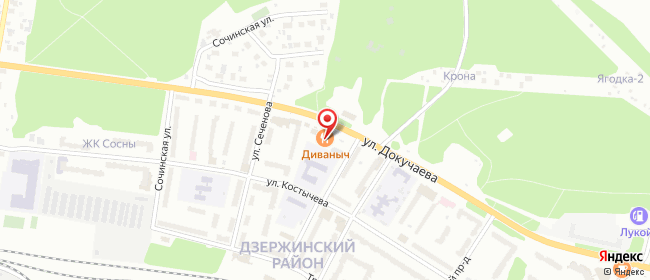 Карта расположения пункта доставки Пункт выдачи в городе Пермь