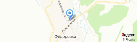 Заречное на карте Уфы