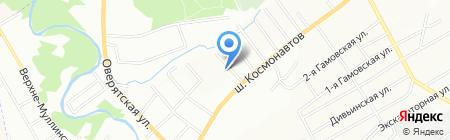 Средняя общеобразовательная школа №107 на карте Перми