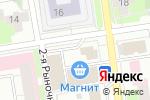 Схема проезда до компании Киоск по ремонту обуви и изготовлению ключей в Перми