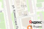 Схема проезда до компании Магазин по продаже овощей и фруктов на ул. Комиссара Пожарского в Перми