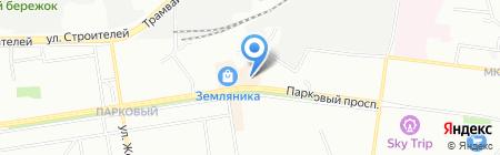 Магазин женского белья на карте Перми