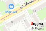 Схема проезда до компании Мясной магазин в Перми