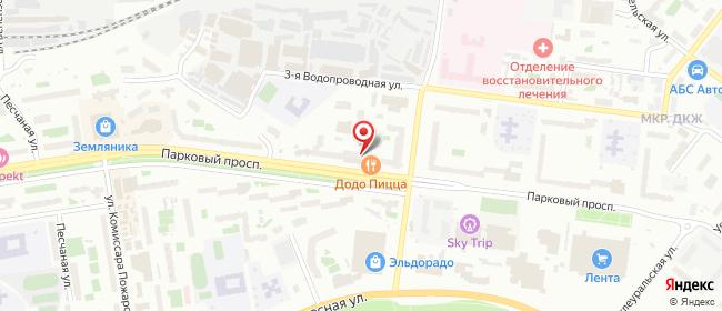 Карта расположения пункта доставки 220 вольт в городе Пермь