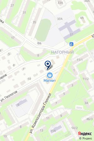 Шиномонтажная мастерская на ул. Геологов на карте Перми