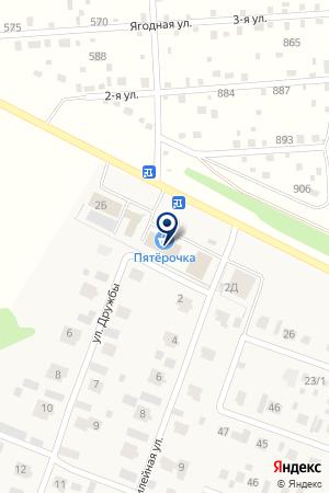 Йомарт на карте Акбердино
