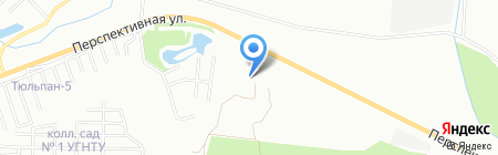 Тепломир-Уфа на карте Уфы
