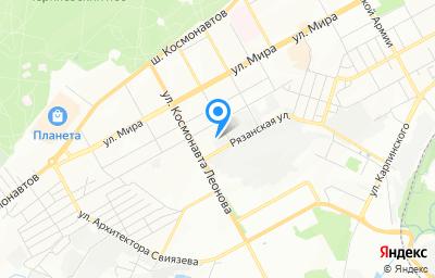 Местоположение на карте пункта техосмотра по адресу г Пермь, ул Рязанская, зд 132