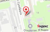 Схема проезда до компании Автопартнер в Перми