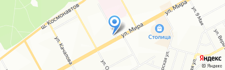 Вариант на карте Перми