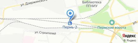 Стрела на карте Перми
