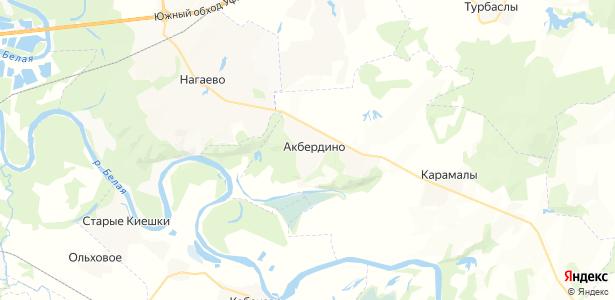 Акбердино на карте