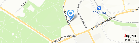 Золотой мебельщик на карте Перми