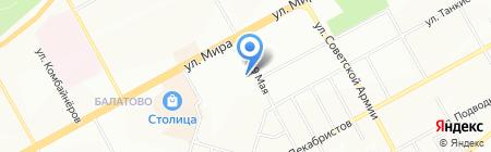 Три Пеликана на карте Перми