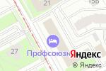 Схема проезда до компании Санкт-Петербургский институт внешнеэкономических связей, экономики и права в Перми