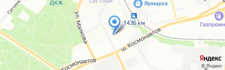 Пятёрочка на карте Перми