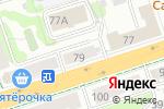 Схема проезда до компании Малахитовая шкатулка в Перми