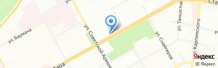Лоция на карте Перми