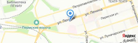 Пироговъ на карте Перми