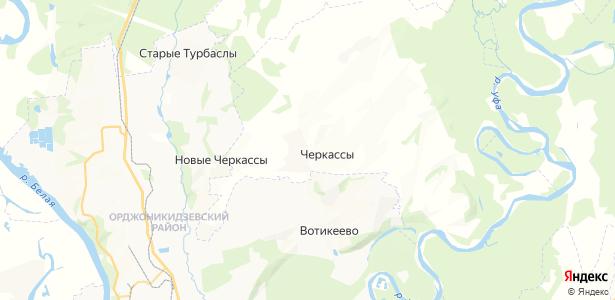 Черкассы на карте