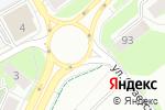 Схема проезда до компании На Карпинского в Перми