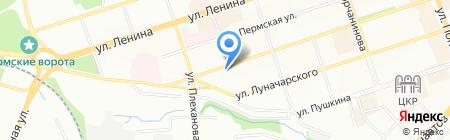 Яша на карте Перми