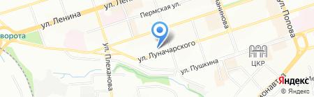 Милажъ на карте Перми