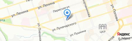 Сети на карте Перми