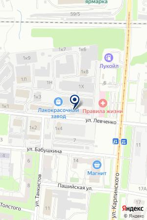 ПЕРМСКИЙ ЛАКОКРАСОЧНЫЙ ЗАВОД на карте Перми