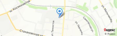Заводское на карте Перми
