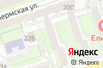 Схема проезда до компании Рублевка дизайн в Перми