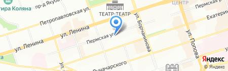 Брайф на карте Перми