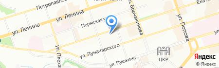 Шерше Ля Фам на карте Перми