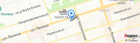 Импасто на карте Перми