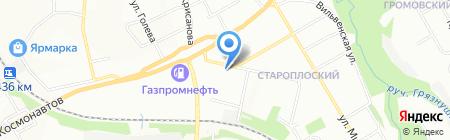 Вален на карте Перми