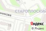 Схема проезда до компании Нужные вещи в Перми