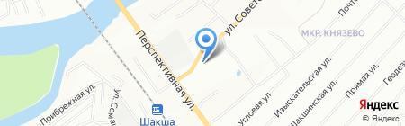 Калина на карте Уфы