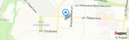 Баня на ул. Лодыгина на карте Перми