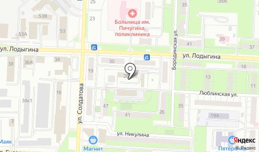 Баня на ул. Лодыгина. Схема проезда в Перми