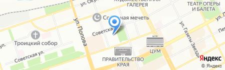 Автонавигатор на карте Перми