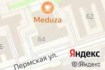 Схема проезда до компании ИВС-СЕТИ в Перми