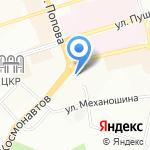Мужская парикмахерская на карте Перми