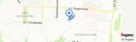 Одень`ка на карте Перми