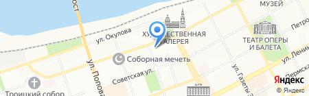РЕКОМ-недвижимость на карте Перми